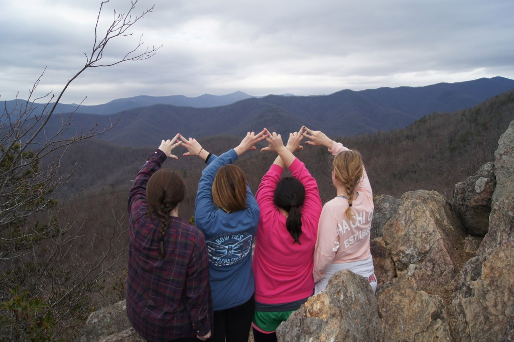 Throw what you know! Taken at the Rattlesnake Summit in Ridgecrest, NC.